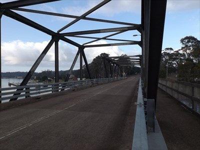 Looking west, from the coordinates of the Karuah Truss Bridge waymark ('centre' of the bridge)0700, Friday, 11 November, 2016