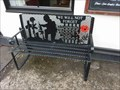 "Image for ""We will not forget"" Bench by the ""Black Star"", Stourport-on-Severn, Worcestershire, England"