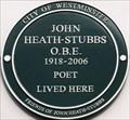Image for John Heath-Stubbs - Artesian Road, London, UK