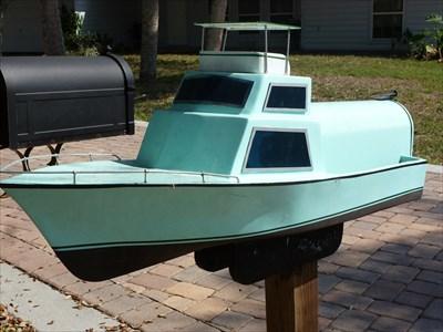 Sport fishing yacht mailbox stuart fl themed homemade for Boat mailbox