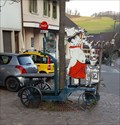 Image for Old Wagon in Front of a Restaurant - Läufelfingen, BL, Switzerland