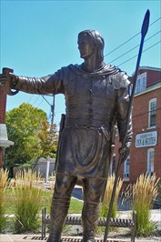 A broze statue and park on Market Street overlooking the Missouri River was added in 2009.