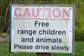 Image for Caution Sign - 'Free Range Children'  - Lower Hatton, Staffordshire.