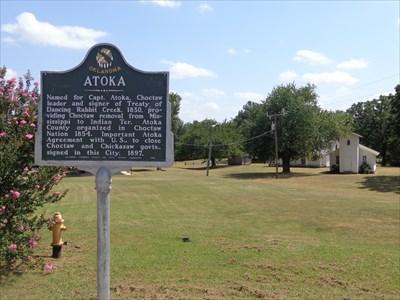 Atoka Ok Oklahoma Historical Markers On Waymarking