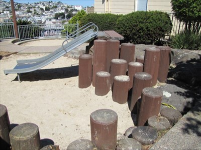 Small Slide from the Side and Pilings, San Francisco, CA