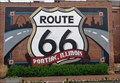 Image for Historic Route 66 - Gigantic Route 66 Highway Shield - Pontiac, Illinois, USA