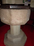 Image for Norman Baptismal Font - St Thomas Church - Monmouth, Wales.