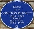 Image for Dame Ivy Compton-Burnett - Cornwall Gardens, London, UK