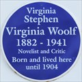 Image for Virginia Woolf - Hyde Park Gate, London, UK