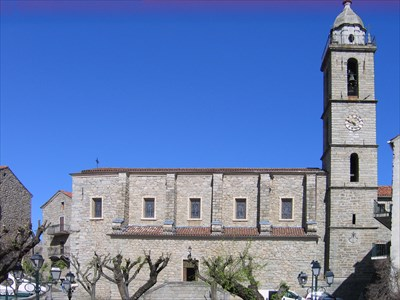 The church dominates the town and the market square