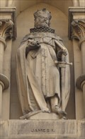 Image for Monarchs - King James I On Side Of City Hall - Bradford, UK