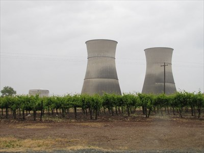 From the Road with Grapevines in View, Rancho Seco Nuclear Plant