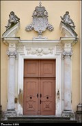 Image for Baroque portal of Church of Assumption of the Virgin Mary / Barokni portál kostela Nanebevzetí Panny Marie - Valtice (South Moravia)
