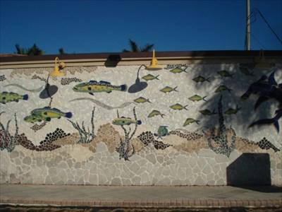 Juno beach fish mosaic mosaics on for Juno beach fish house