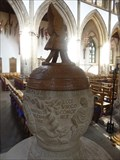 Image for Stone Font -  Llandaff Cathedral - Cardiff, Wales