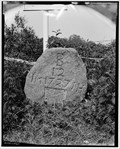 Image for 12 Mile Stone, Braintree MA  (From Boston)   1727