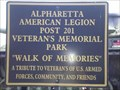 Image for WALK OF MEMORIES. American Legion 201, Alpharetta, GA