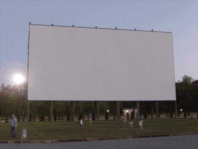 This is the largest of the two screens. It measures 100x50ft.