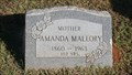 Image for 102 - Amanda Mallory - Trice Hill Cemetery - Spencer, OK