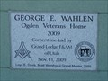 Image for 2009 - George E. Wahlen - Ogden Veterans Home - Ogden, Utah