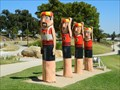 Image for Victoria Baths Swimmers Bollards - Geelong Waterfront, Victoria, AU