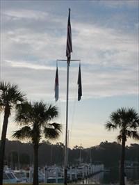 Cricket Cove Marina Flag Pole Little River Sc Nautical