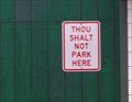Image for 11th Commandment? Thou Shalt Not Park Here - Keweenaw County MI