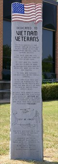 Image for Vietnam War Memorial, U.S. Post Office, Hugo, OK, USA