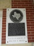 Image for Walter F. Hicks - First Presbyterian Church - Paris, TX