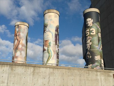 Three Columns from the Stairs, Autzen Stadium, Eugene, Oregon