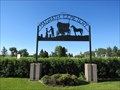 Image for Magrath Cemetery Entrance Sign - Magrath, Alberta[