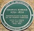 Image for Charles Babbage - Dorset Street, London, UK