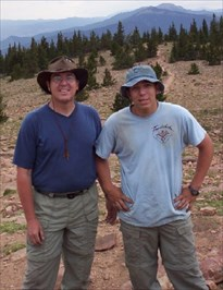 My son and I on top of Mt. Phillips in '03