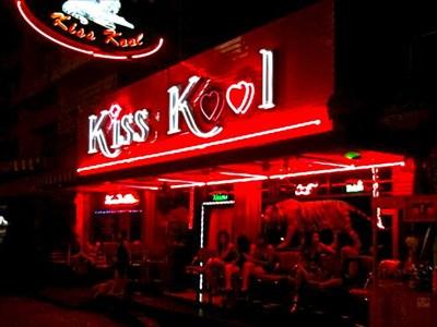 Kiss Kool' bar, Soi 6, Pattaya, Thailand  - Neon Signs on Waymarking com