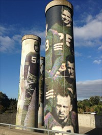Three Columns Together, Autzen Stadium, Eugene, Oregon