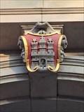 Image for Hamburg-Wappen am Gebäude der Generalstaats-/Staatsanwaltschaft - Hamburg, Germany