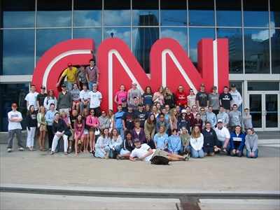 A pic of my group in front of the CNN sign.