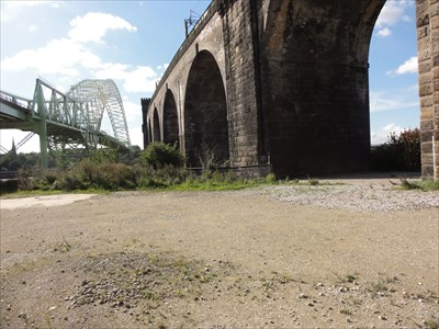 This view from the Trans Pennine Trail shows how close the bridges are together.