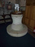 Image for Font, St Andrew's Church, Shelsley Walsh, Worcestershire, England