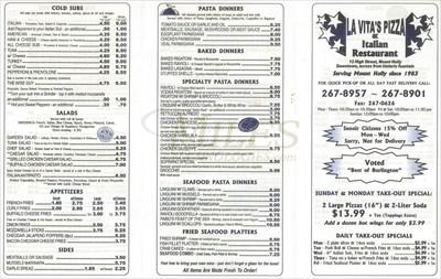La Vitas Pizzeria Mount Holly Nj Takeout Delivery
