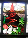 "Image for ""KILAUEA  MILITARY CAMP BUILDING""  - Stained glass window"