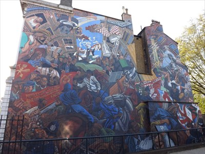 The battle of cable street mural cable street london for Cable street mural