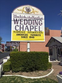 Wee Kirk Wedding Chapel Sign, Las Vegas, Nevada