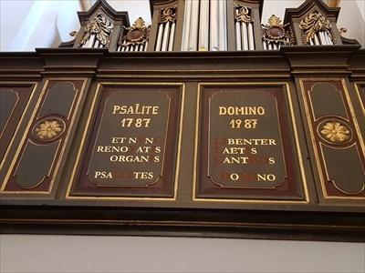 Chronogramm in der Pfarrkirche St. Clemens in Drolshagen - Nahansicht