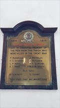 Image for Memorial Plaque - St Mary - Eastling, Kent