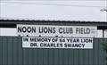 Image for Dr Charles Swancy -- Noon Lions Baseball Fields, Weatherford TX
