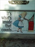 Image for Wonderland Antiques Garage Door Art - Eureka Springs AR