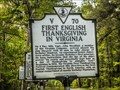 Image for FIRST -  English Thanksgiving In Virginia