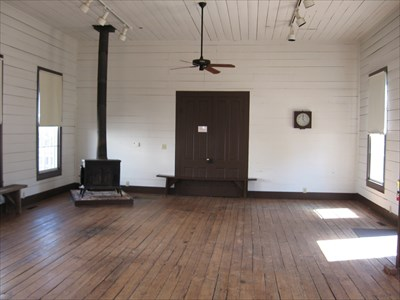 Grange Hall interior view.