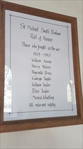 Image for Roll of Honour - St Michael - South Elmham St Michael, Suffolk